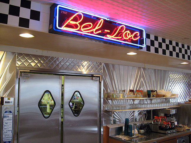 Clean, elegantly-preserved 60s-esque diner charm at the Bel Loc Diner, where we had several breakfasts.