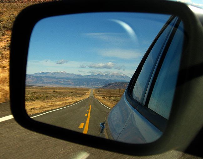 The wild road in our rear view mirror.