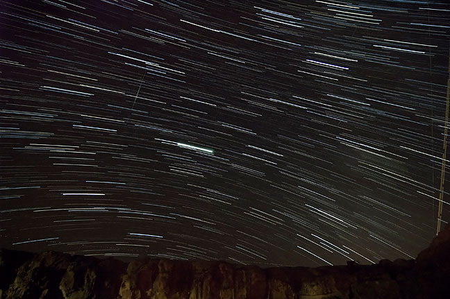 30-minute star trace photo from my Gallo Campground camp site