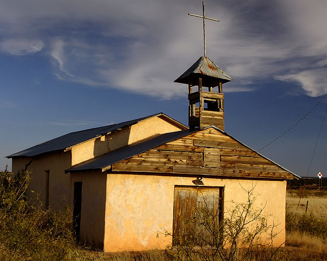 Abandoned church, Newkirk, New Mexico
