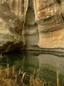 The water source at El Morro