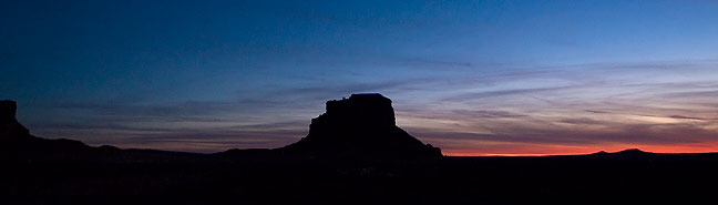Last light at Fajada Butte, the signature formation at Chaco