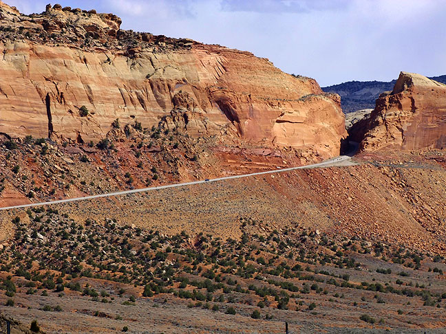Utah state highway 95 and the Comb Ridge.
