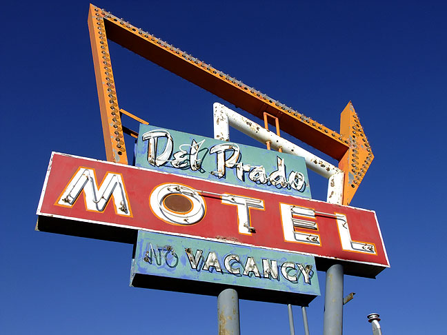 Hotel sign, Cuba, New Mexico.