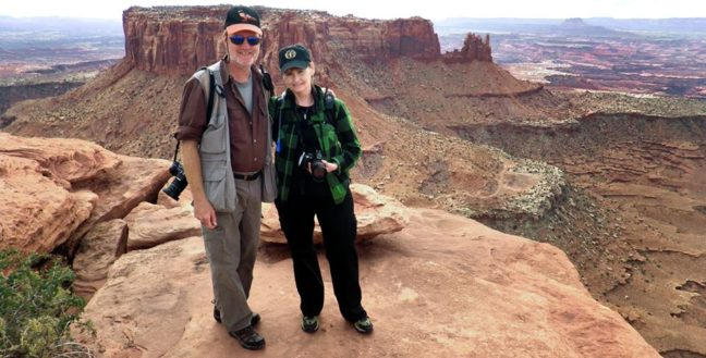 Abby and I pose at the end of the Grand View Point trail, Canyonlands National Park, Utah.