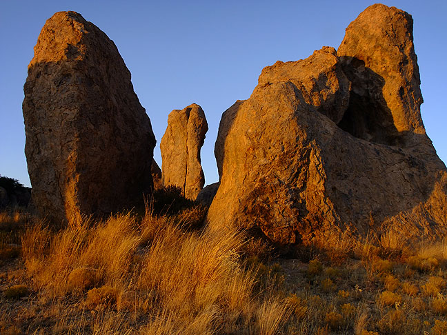 Another image of City of Rocks at last light.