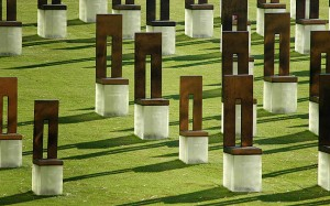 There is a memorial chair for each of the 169 who were killed the day of the bombing