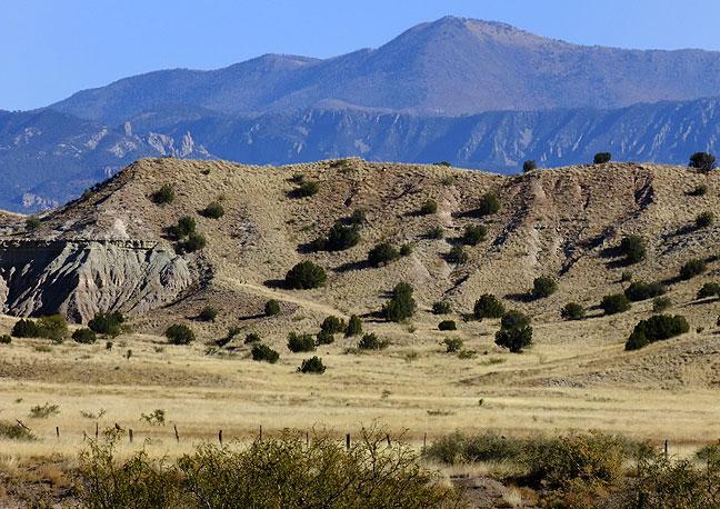 Mogollon Mountains northwest of Silver City, New Mexico.