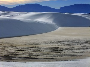 By mid-afternoon, I was at White Sands National Monument, but was vexed by soft light and haze, seen in this image.