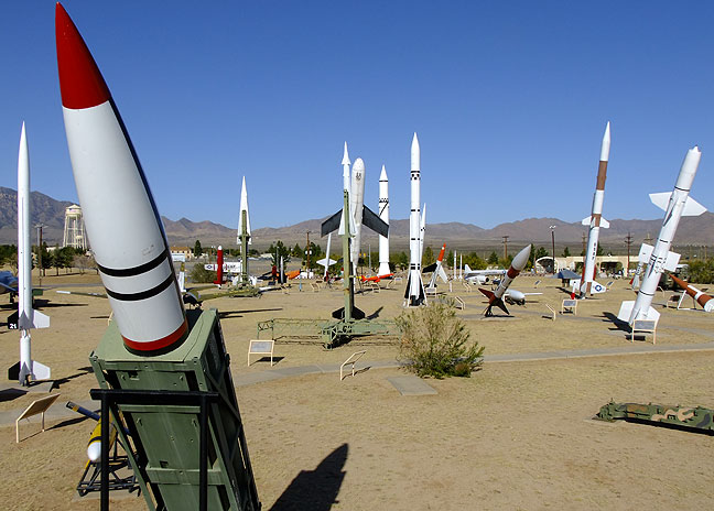 White Sands Missile Park at the entrance to White Sands Missile Range, New Mexico.
