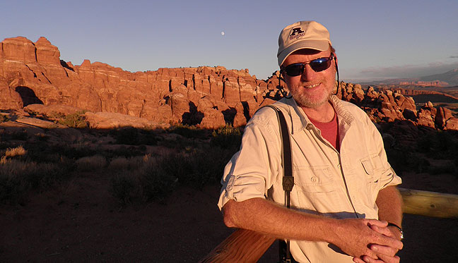 At the Fiery Furnace, Arches, sunset.