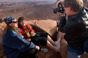 Deb and David share laughs as Robert photographs them during our sunset session at Grand View Point.