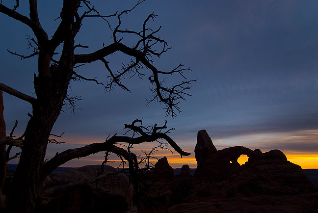 Tree and Turret Arch, Arches National Park.