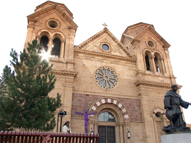 Near The Plaza is the beautiful Cathedral Basilica of St. Francis of Assisi.