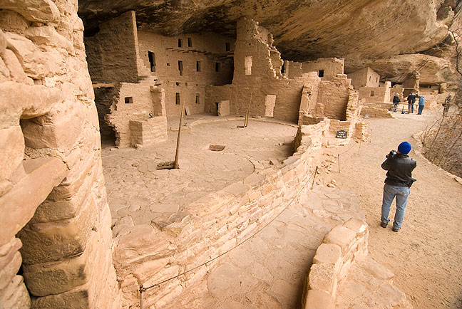 Spruce Tree House at Mesa Verde National Park.