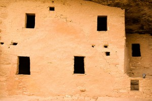 The ancestral masonry at Mesa Verde is quite similar to that at Chaco Canyon in New Mexico.