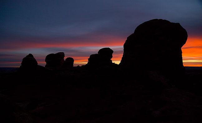 This image was made after sunset, in the Windows section from near the opening of Turret Arch.