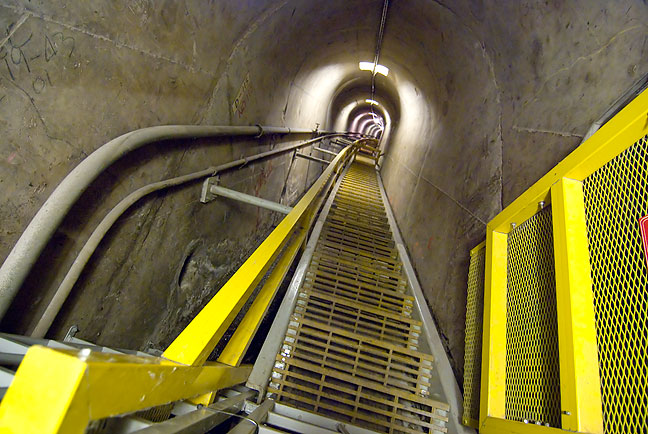 Stairway to Heaven? This locked staircase leads to the bottom of Hoover Dam.