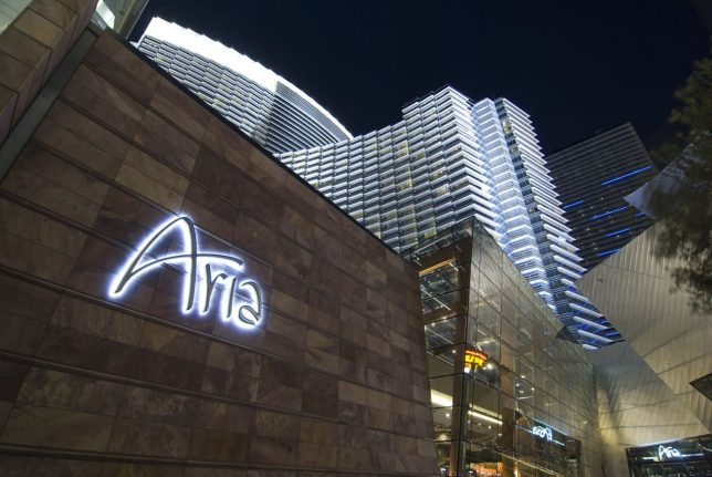 This view of the Aria is on par with the hotel's image: chic, expensive, clean, and prestigious.