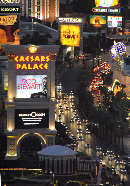 This image by Abby shows traffic on Las Vegas Boulevard.