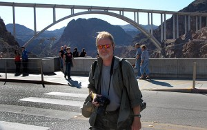 This is me crossing the road at Hoover Dam.