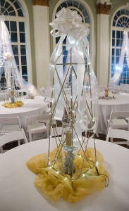 The decorations suited the venue and the occasion perfectly.