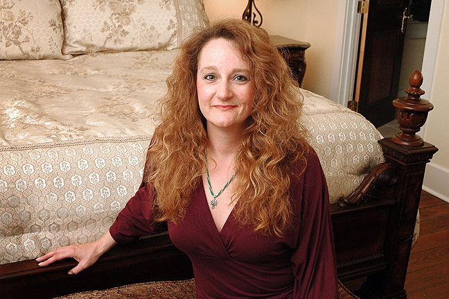 My sister Nicole poses for a photo in her rebuilt home in New Orleans, Louisiana.