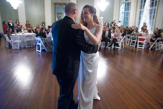 Tracey and Nicole share their first dance as husband and wife.