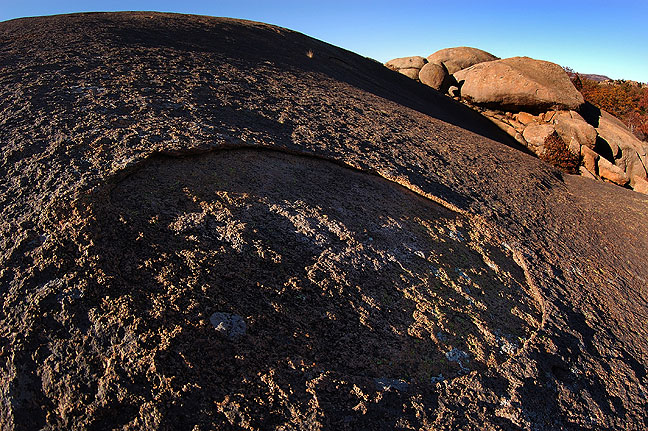 Granite dome and boulders, Charon Gardens Wilderness Area, Wichita Mountains Wildlife Refuge, November 2008.