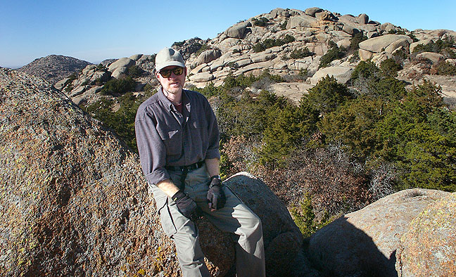 The author hikes in the vicinity of Mount Lincoln, December 2004.