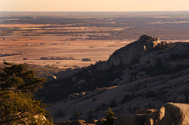 "View of ""Sitting Rock"" from Elk Mountain looking south, 2008."