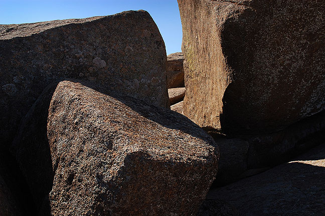 Granite slabs, Mount Lincoln, 2004.