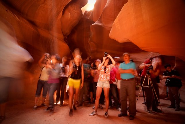 The beauty of Antelope Canyon can be overshadowed by the crowds.
