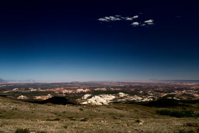 Near the top of the Escalante Scenic Drive is an opportunity to photograph a genuinely clear high-country sky.