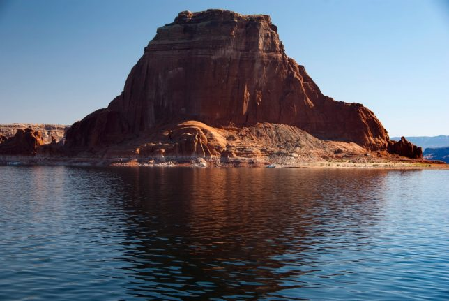 Many of us feel that lakes like Lake Powell cover a multitude of beautiful deserts. This formation would be twice as high in the natural desert.