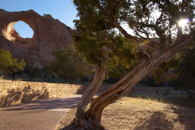 I toured Window Rock, Arizona, early in the morning on Memorial Day.