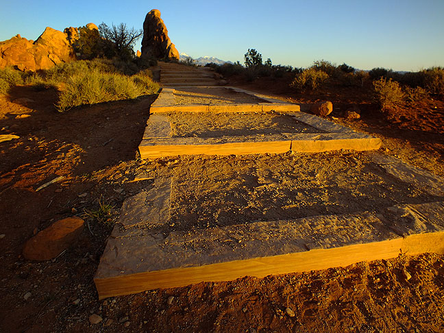 Stairway to Heaven: these steps lead to the South Window at Arches National Park.