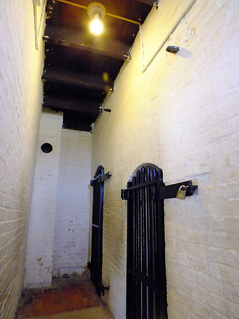 The main portion of Fort McHenry housed these jail cells.