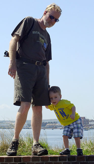 Abby shot this photo of Paul and me exploring Fort McHenry. It really emphasizes how tiny he still is.