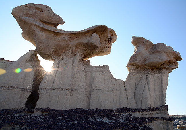 The purity of the light, particularly in the morning I visited Bisti, was without peer.