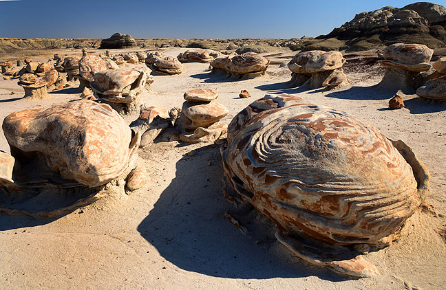 "The so-called ""Cracked Eggs"" formation at Bisti is the center of a lot of photographic attention."