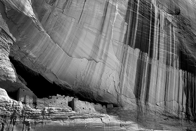 White House Ruin, Canyon de Chelly National Monument; Timothy O'Sullivan photographed this in 1873, which inspired Ansel Adam's photograph of it in 1942. I first photographed this spot in 2000, then again with my wife Abby in 2004.