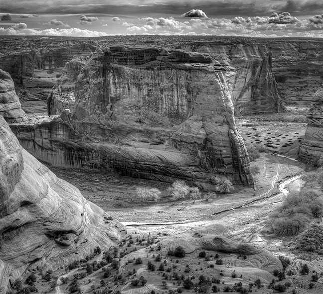 This is a highly-stylized five-image high dynamic range rendering of Canyon de Chelly from the rim.