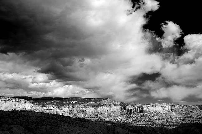 I made this archetypically moody image on the Chimney Rock trail at New Mexico's famous Ghost Ranch.