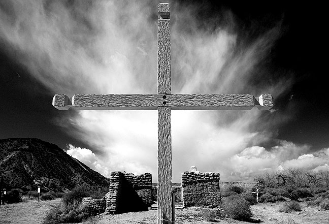 I thought this image, made at the Santa Rosa de Lima Church Ruins in north central New Mexico, to possibly be the strongest piece of the week, so I saved it for last. The light, sky, and composition summon recollections of some of the best photography from throughout the history of New Mexico.