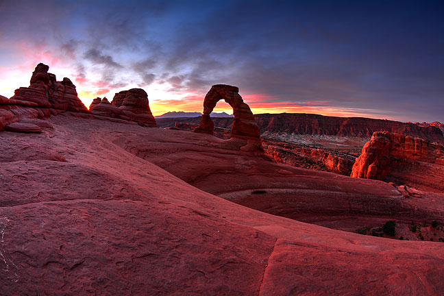 Delicate Arch in Arches National Park, Utah, an icon of the American southwest, where Abby and I got married ten years ago, glows in pre-dawn light.