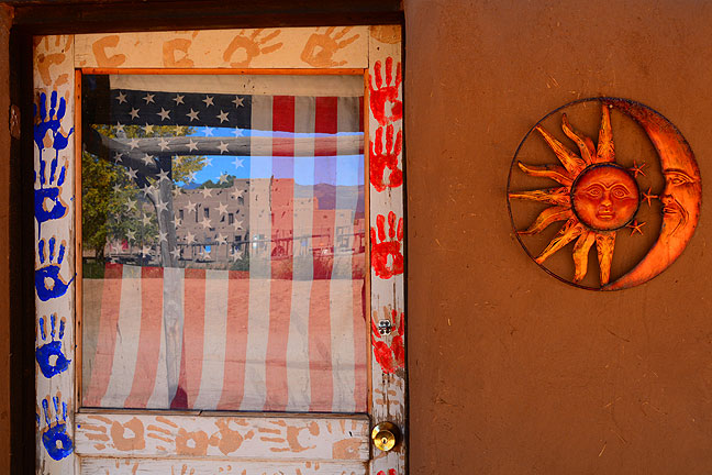 This store front at Taos Pueblo shows off the location's color and character.