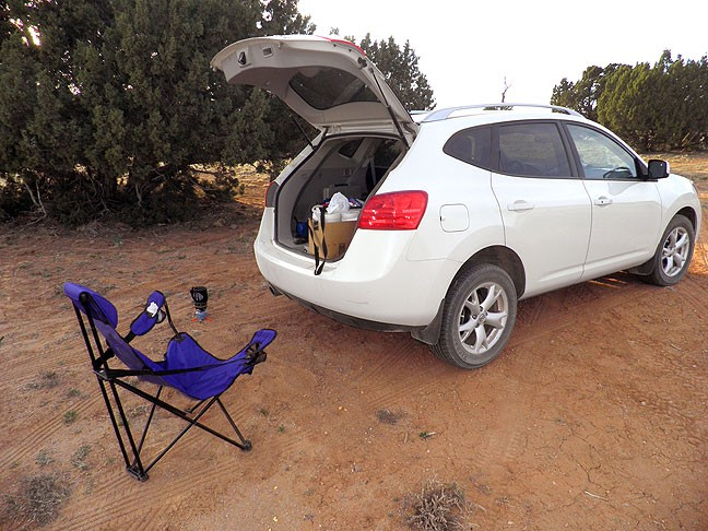 This is my camp site on my second night in Grand Staircase/Escalante, though it differed little from the first night's.