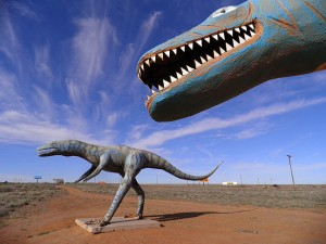 One of the sights along the road was this collection of dinosaurs near Holbrook, Arizona.
