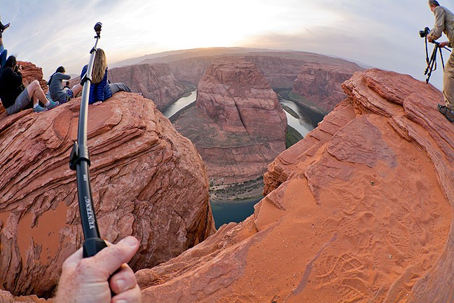 This frame at Horseshoe Bend shows me making video of myself making pictures.